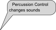 Percussion Control                changes sounds